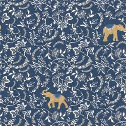 Papier peint Wisdom bleu indigo doré -MYSTERY- Caselio MYY101596911