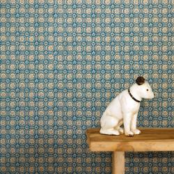 Papier peint Custom bleu canard doré -MYSTERY- Caselio MYY101606606