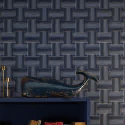 Papier peint Longevity bleu indigo doré -MYSTERY- Caselio MYY101646328