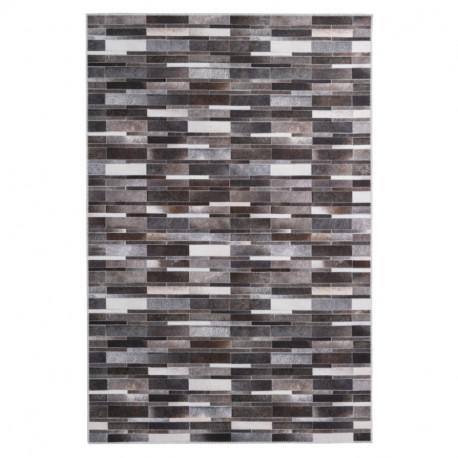 Tapis imitation peau de bête - patchwork Parements gris - Bonanza 520