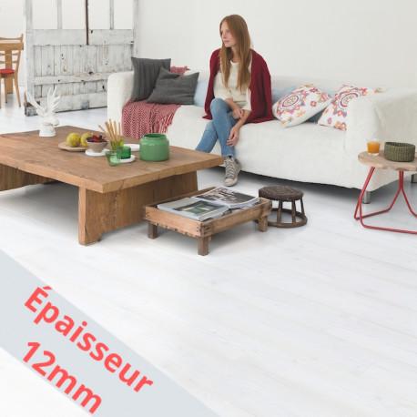 """QUICK STEP - Impressive Ultra - Lames stratifiées à clipser """"IMU1859 planches blanches monolames"""" (très résistant)"""