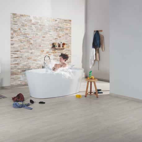 """QUICK STEP - Impressive - Lames stratifiées à clipser """"IM3560 Chêne classique patiné gris"""" (résistant)"""