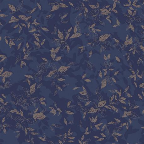 Papier peint Gadagne bleu nuit -JARDINS SUSPENDUS- Casadeco JDSP85206501
