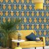 Papier peint Pina turquoise -CUBA- Casadeco CBBA84356404