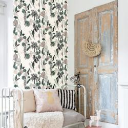 Papier peint Palm Leopard Rose Vert -CLUB BOTANIQUE- Rasch 540338