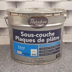"""Peinture intérieure spéciale mur """"SOUS-COUCHE / PLAQUE DE PLATRE"""" blanc mat - THEODORE  - 10L"""