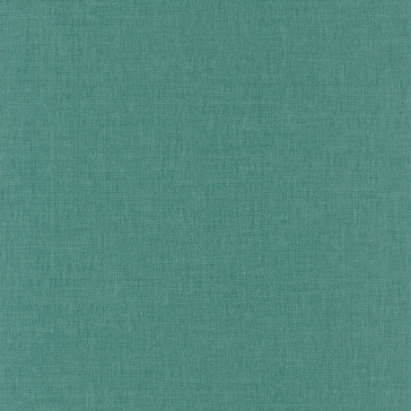 Papier peint uni vert menthe foncé - LINEN - Caselio