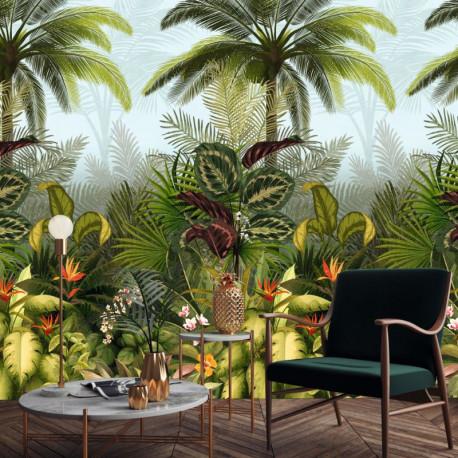 Panoramique BRANCA Jungle Fever vert - Collector - décor mural GRANDECO