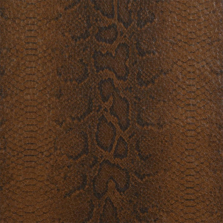 Papier peint vinyle PYTHON marron cuir - Collection ELIXIR - CASAMANCE
