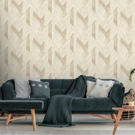Papier peint à motif SCILLA beige JF3201 - JUNGLE FEVER - Grandeco