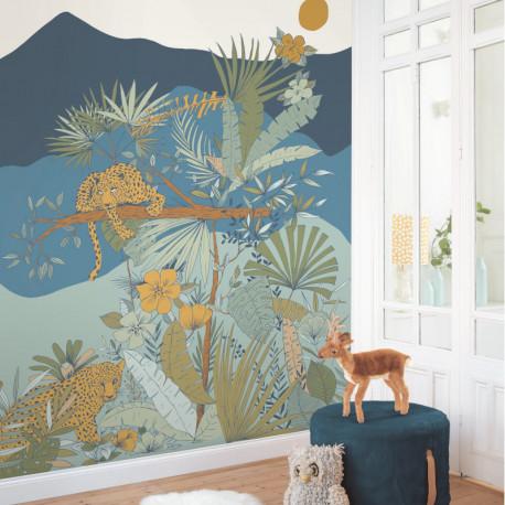 Papier peint panoramique à motif KENYA multicolore OUP101477717 - OUR PLANET - CASELIO