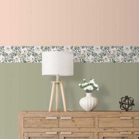 Frise papier peint ARBOUSIER - motif floral art nouveau - Ugepa