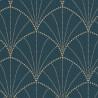 Papier peint à motif STARDUST bleu pétrole or PTB101826122 - THE PLACE TO BED - CASELIO