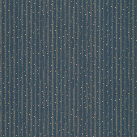Papier peint à motif LULLABY bleu madura or PTB101836126 - THE PLACE TO BED - CASELIO