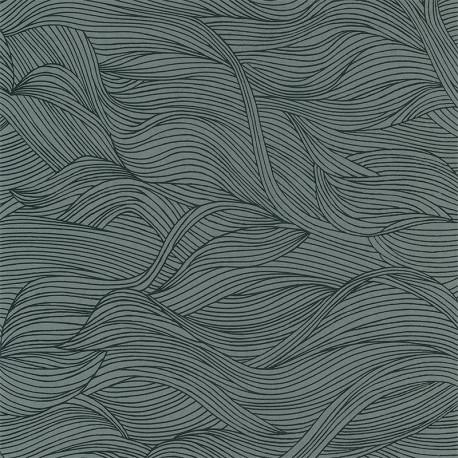 Papier peint à motif ALULA vert d'eau B74360416 - BLOSSOM - Casamance