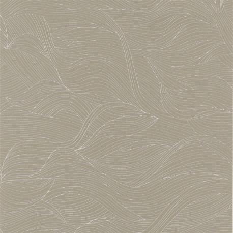 Papier peint à motif ALULA taupe B74360314 - BLOSSOM - Casamance