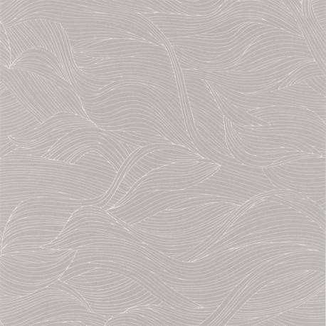 Papier peint à motif ALULA gris perle B74360212 - BLOSSOM - Casamance