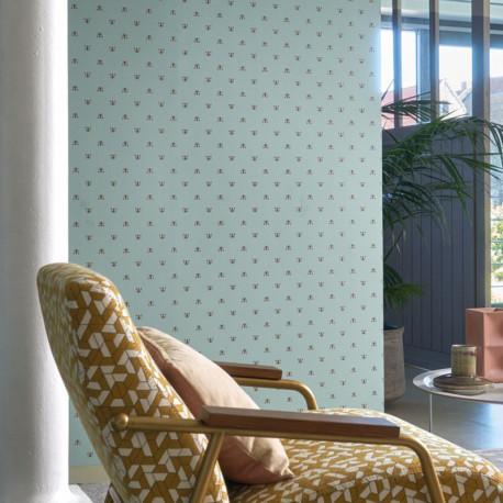 Papier peint à motif APIS vert clair B74340189 - BLOSSOM - Casamance