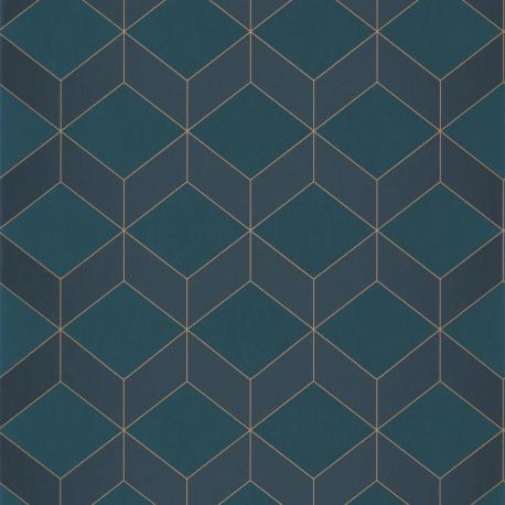 Papier peint Metro bleu - 1930 - Casadeco - 85686337