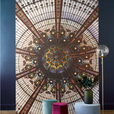 Panoramique Coupole multicolore - 1930 - Casadeco  - 85886545
