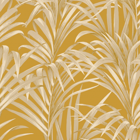 Papier peint Fougères jaune et or - 1930 - Casadeco - 28922318