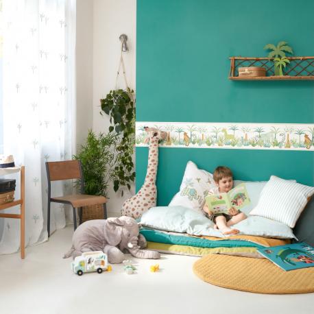 Frise enfant Léon vert - ROSE & NINO - Casadeco - RONI85657588