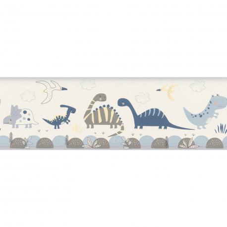 Frise enfant Jurassic bleu - BAMBINO - Rasch - BBN248869