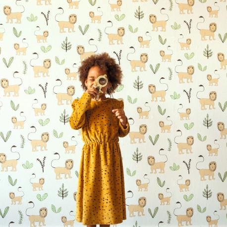 Papier peint Léo beige - BAMBINO - Rasch - BBN531701