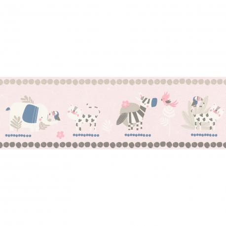 Frise enfant Animals rose - BAMBINO - Rasch - - BBN249873