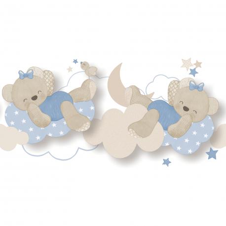 Frise Miss Ours bleu ciel - BABY LAND - Lutèce 5493