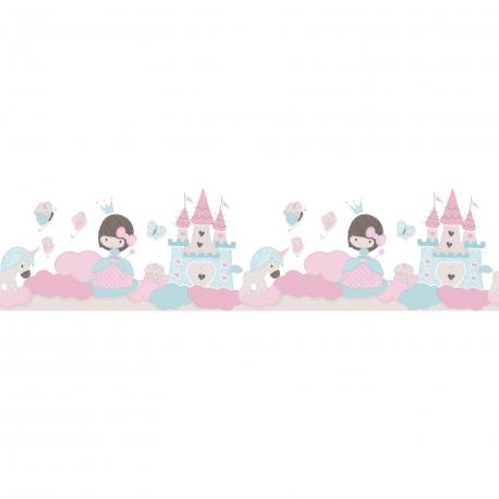 Frise Petite Princesse bleu céleste - BABY LAND - Lutèce 5499