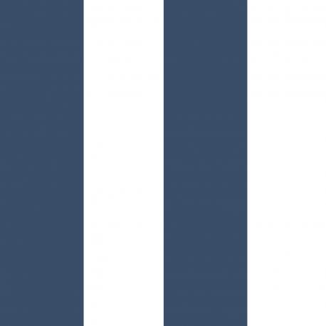 Papier peint Large Rayure bleu navy et blanc - BABY LAND - Lutèce 5476