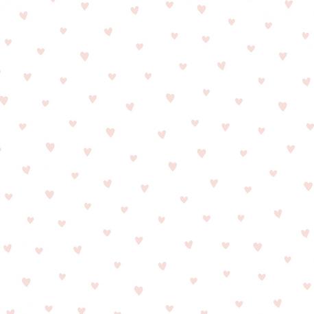 Papier peint Petit Cœur rose - BABY LAND - Lutèce 21124