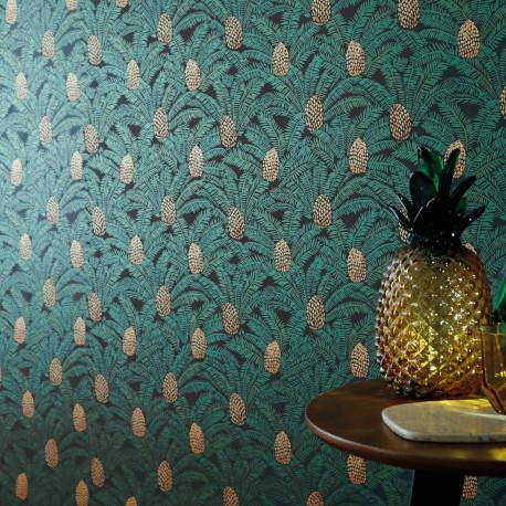 Papier peint Palmeta sapin - ORPHEE - Casamance - ORP74741942