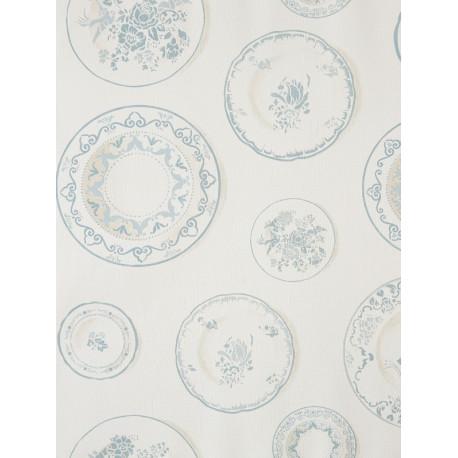 Papier peint à motif Assiettes de cuisine ancienne - Cavaillon - Caselio