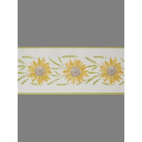 Frise papier peint à motif Tournesol beige- Cavaillon - Caselio