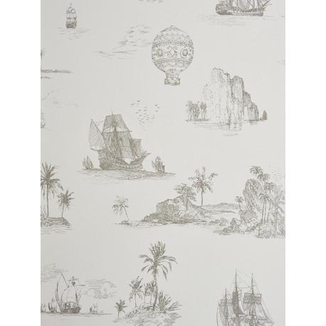 Papier peint Voyage gris - CHANTILLY - Casadeco - CHT22959118