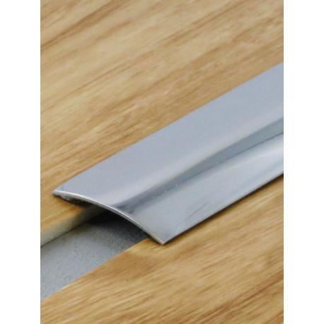 0,83mx30mm - Barre de seuil inox brillant - adhésive plate - Presto - DINAC