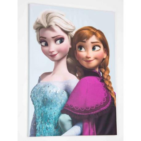 Toile imprimée Elsa et Anna : Reine des neiges - 50x70cm - Graham & Brown