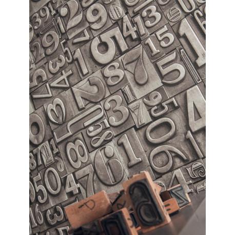 Papier peint Chiffres Métal cuivre - METAPHORE - Caselio - MTE65639009