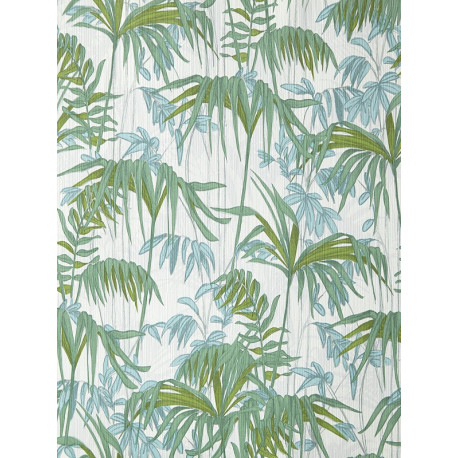 """Papier peint AMAZONIA effet """" forêt """" bleu par Caselio"""
