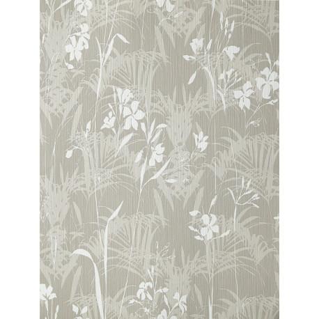Papier peint Herbier blanc et taupe - AMAZONIA - Caselio - AMZ66452010