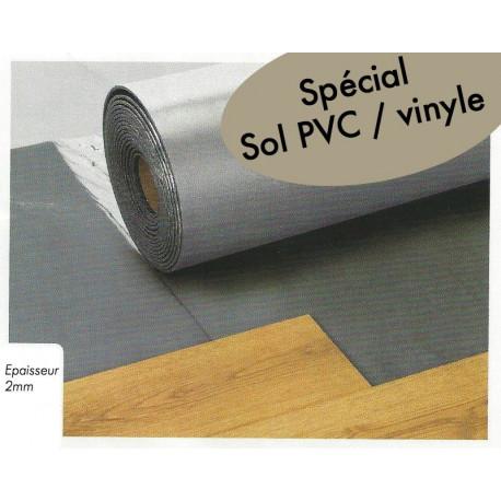 Sous-couche ISOLSOUND Alu 2mm - THEARD. Spéciale Sol PVC et vinyle.